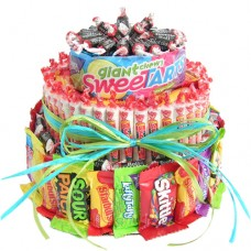 Three Tier Candy Gift Cake