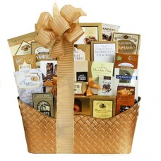 Glittering Gold Holiday Gift Basket