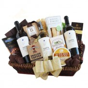 Napa Valley Cellars Wine and Gourmet Gift Basket