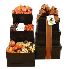 Black Halloween Gift Tower