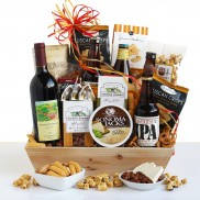 Basket of Cheer Beer and Wine Gift Basket